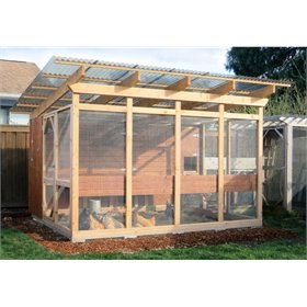 Garden Loft Building Plans (up to 16+ chickens)