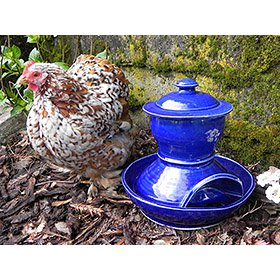 Artisan chicken waterer