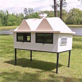 Fiberglass Geo 4' x 6' Chicken Coop (up to 8 chickens)