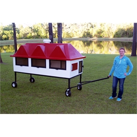 Fiberglass Geo 4' x 8' Rectangular Chicken Coop (up to 10 chickens)