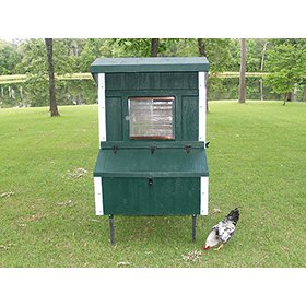 Fiberglass 5x4 Chicken Coop (up to 10 Chickens)