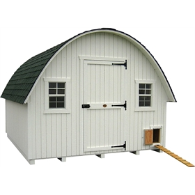 Panelized Round Roof Chicken Coop kit (35 to 50 chickens)