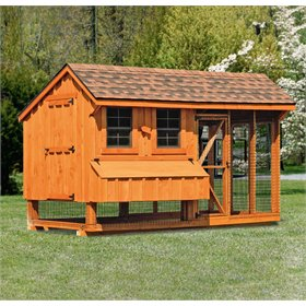 All-In-One 6x12 Chicken Coop Plus Run (up to 20 chickens)