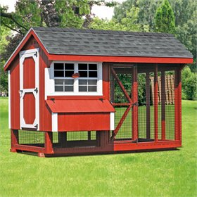 All-In-One 6x10 Chicken Coop Plus Run (up to 15 chickens)