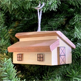 The Layer House Cedar Handmade Ornament