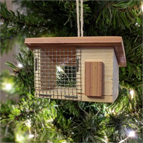 Single Slope Cedar Chicken Coop Ornament