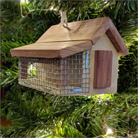 A-Frame Cedar Chicken Coop Ornament