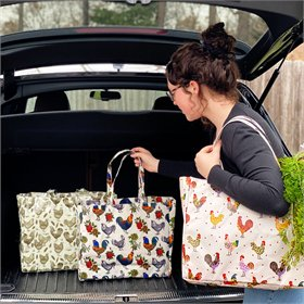 Ultra Strong Chicken & Rooster Shopper Tote (3 styles)