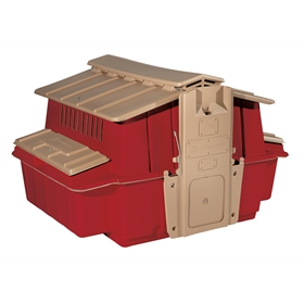 Ultimate Chicken Coop w/feeder and waterer (up to 6 chickens), Red