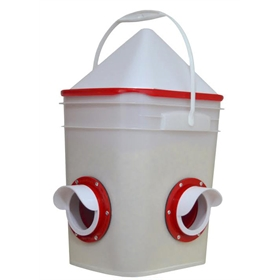 Waste-Free Chicken/Fowl Bucket Feeder, Dual Port, 20lbs
