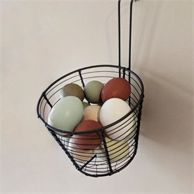 Wire Mesh Egg Collection Basket w/Hanger, 14 eggs