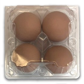 Plastic 4-Egg Cartons