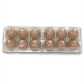 Plastic 6-Egg Tri-Fold Egg Carton, 25 pack (see size options)