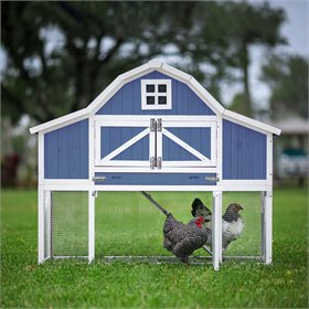 The Gambrel Roof Chicken Coop (5-6 chickens), Blue