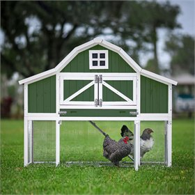 The Gambrel Roof Chicken Coop (5-6 chickens), Green