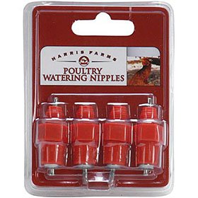 Poultry Watering Nipples, Pack of 4