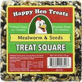 Happy Hen Treats - Treat Square, Mealworm & Seeds