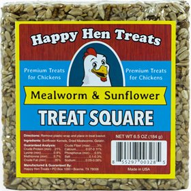 Happy Hen Treats - Treat Square, Mealworm & Sunflower