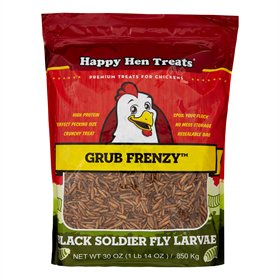 Happy Hen Treats Grub Frenzy Black Soldier Fly Larvae (2 sizes)