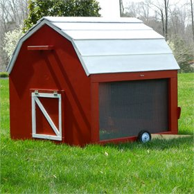 MiniBarn Mobile Chicken Tractor Plans (up to 6 chickens)