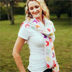 Multi-colored Chicken Party Scarf / Sarong / Wrap
