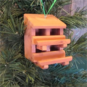Double Decker Cedar Nest Box Ornament