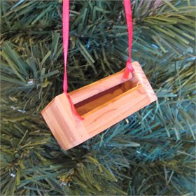Handmade Cedar Treadle Feeder Ornament