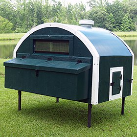 Fiberglass 5x6 Quonset Hut Chicken Coop (up to 15 Chickens)