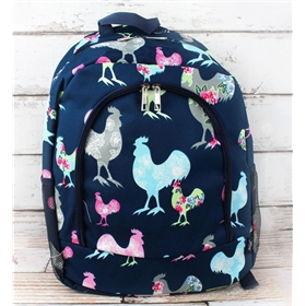 Rosy Roosters Large Backpack