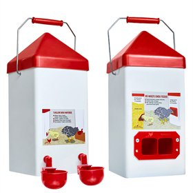 Space-Saving Chick Feeder and Waterer Combo