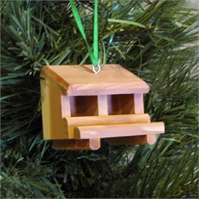Handmade Cedar Nest Box Ornament