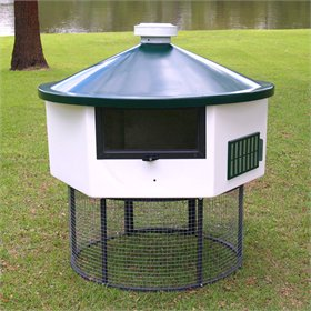 Fiberglass Geo 4' Hexagonal Chicken House (up to 5 chickens)