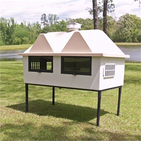 Fiberglass Geo 4' x 6' Chicken House (up to 8 chickens)