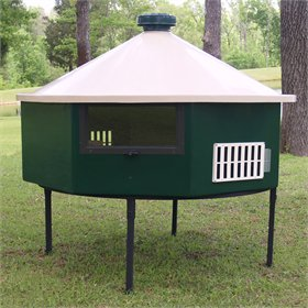 Fiberglass Geo 6' Octagonal Chicken House (up to 8 chickens)