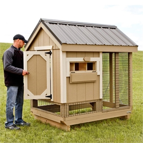 All-In-One 4x6 Chicken Coop Plus Run (up to 7 chickens)