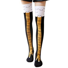 Unisex Chicken Leg Knee-High Socks