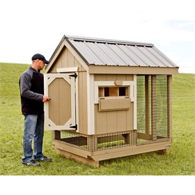 All-In-One 4x6 Chicken Coop (Up to 7 chickens)