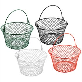 Coated Wire Basket with Handle