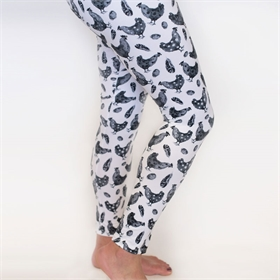 Black & White Chicken Leggings (size options)