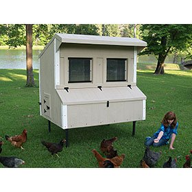 Fiberglass 5x6 Chicken Coop (up to 15 chickens)