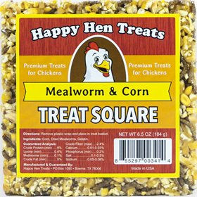 Happy Hen Treats - Treat Square, Mealworm & Corn