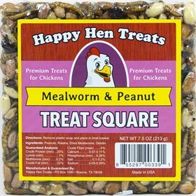 Happy Hen Treats - Treat Square, Mealworm & Peanut