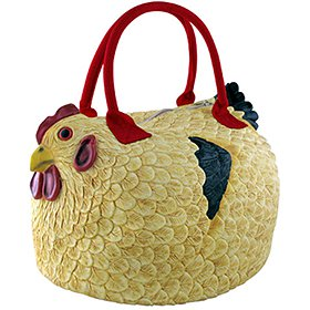 Henbag chicken purse, yellow