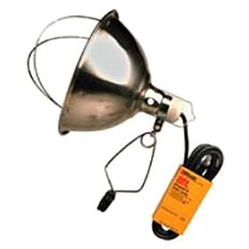 Heat Lamp Reflector with Guard and Clamp