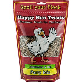 Happy Hen Treats Party Mix, Mealworm & Oats (2 lb)