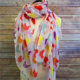 Chicken Print Scarf (Multi colored)