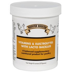 Rooster Booster Vitamins & Electrolytes w/Lactobacillus, 8 oz.
